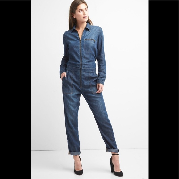 35a347800d5f GAP Denim Utility Jumpsuit